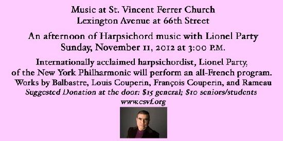 Music at St. Vincent Ferrer Church