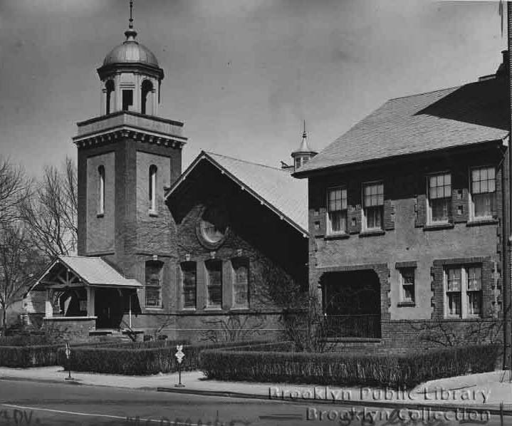 All Souls Universalist Church and Parsonage (1943) - Brooklyn, NY (Brooklyn Public Library)