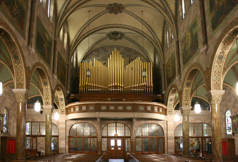 Austin Organ, Op. 288 (1912) in Church of the Annunciation of the Blessed Virgin Mary - Brooklyn, NY (photo: Steven E. Lawson)
