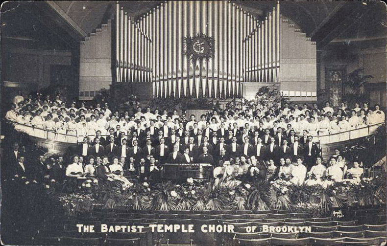 1908 Postcard of The Baptist Temple Choir - Brooklyn, N.Y.