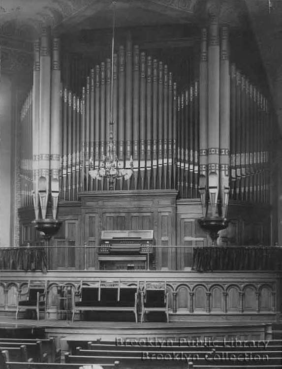 Roosevelt Organ, Op. 496 (1891) in the Central Congregational Church - Brooklyn, N.Y. (Brooklyn Eagle)