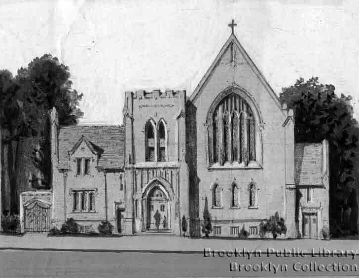 Evangelical Lutheran Church of the Epiphany- Brooklyn, N.Y. (BPL, 1925 Drawing)