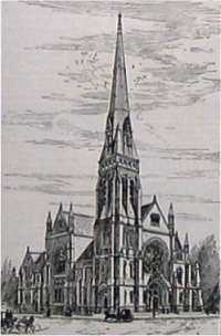Old First Reformed Church - Brooklyn, N.Y. (Engraving in May 1888 Harper's Weekly)