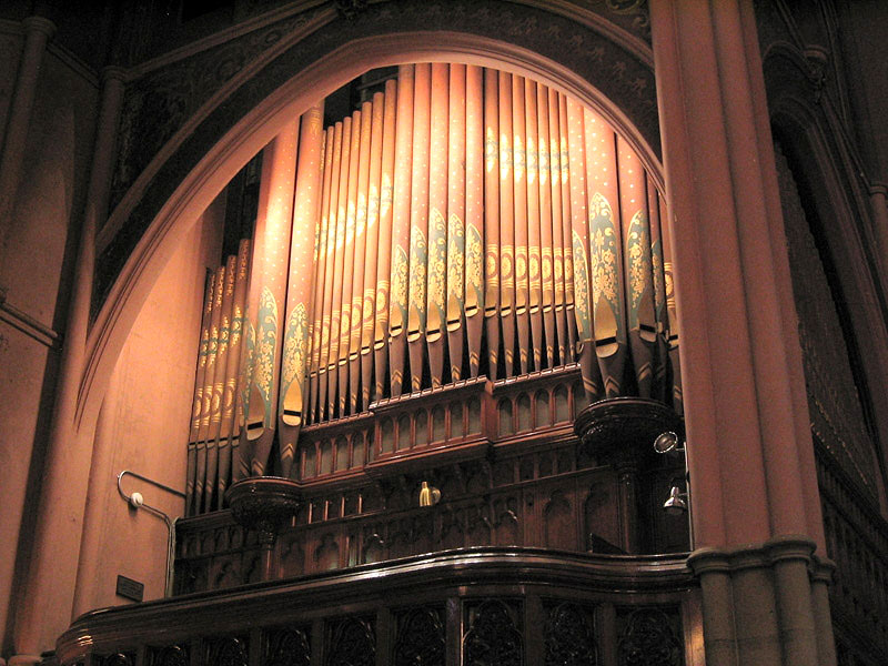 Roosevelt Organ Case, Op. 476 (1891) in Old First Reformed Church - Brooklyn, N.Y. (photo: Steven E. Lawson)
