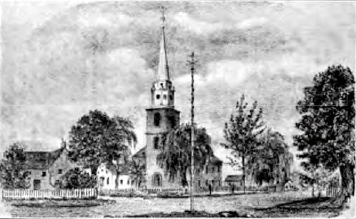 Flatbush Dutch Reformed Church in 1787 - Brooklyn, NY