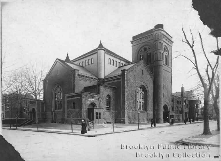 1909 photo of New York Avenue Methodist Episcopal Church - Brooklyn, N.Y. (Brooklyn Collection, Brooklyn Public Library)