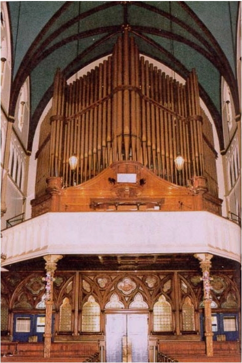 Reuben Midmer & Son Organ (1895) in Church of Our Lady of Victory - Brooklyn, New York (photo: Dave Schmauch)