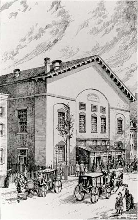 Plymouth Church - Brooklyn (from an early engraving)