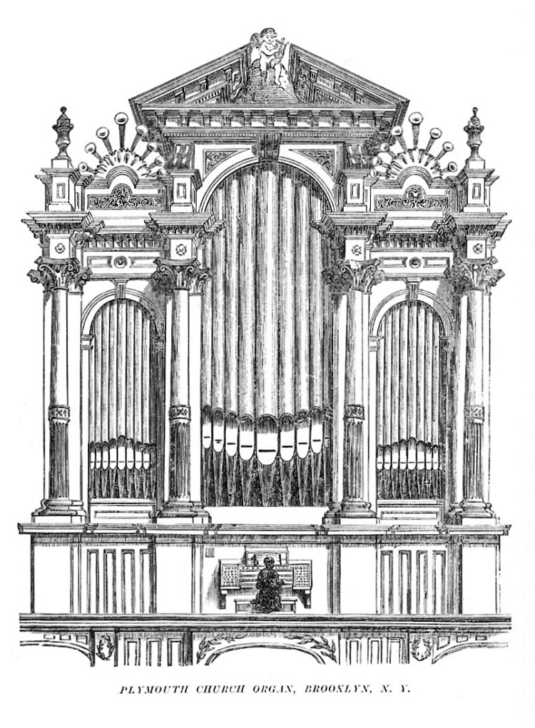 1865 E. & G.G. Hook Organ Case (Op. 360) - Plymouth Church - Brooklyn