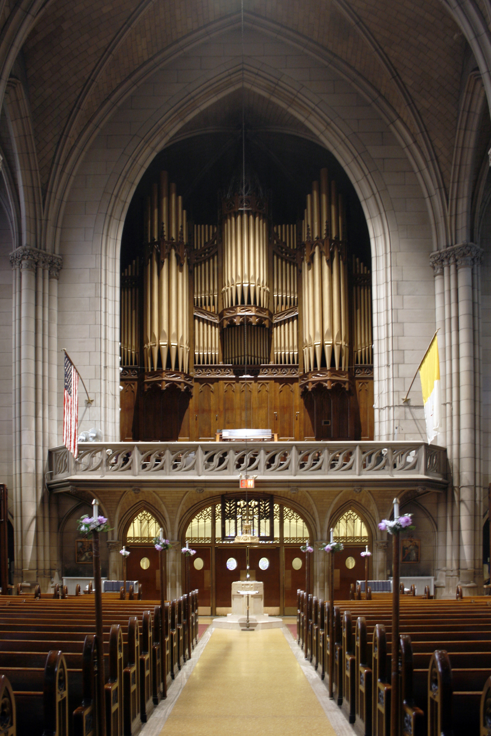 Wirsching Organ (1913) in Queen of All Saints Catholic Church - Brooklyn, N.Y. (photo: Steven E. Lawson)