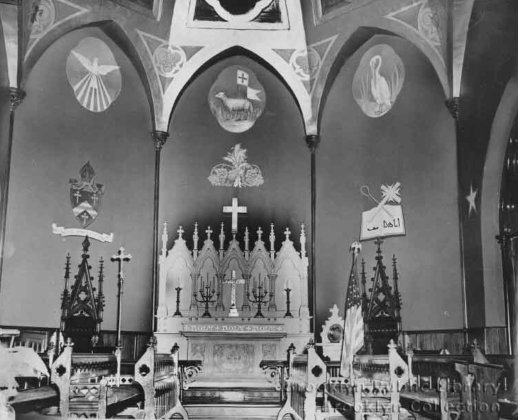 Chancel of Church of the Redeemer (Episcopal) - Brooklyn, N.Y. (photo: The Brooklyn Daily Eagle; Brooklyn Public Library, Brooklyn Collection)