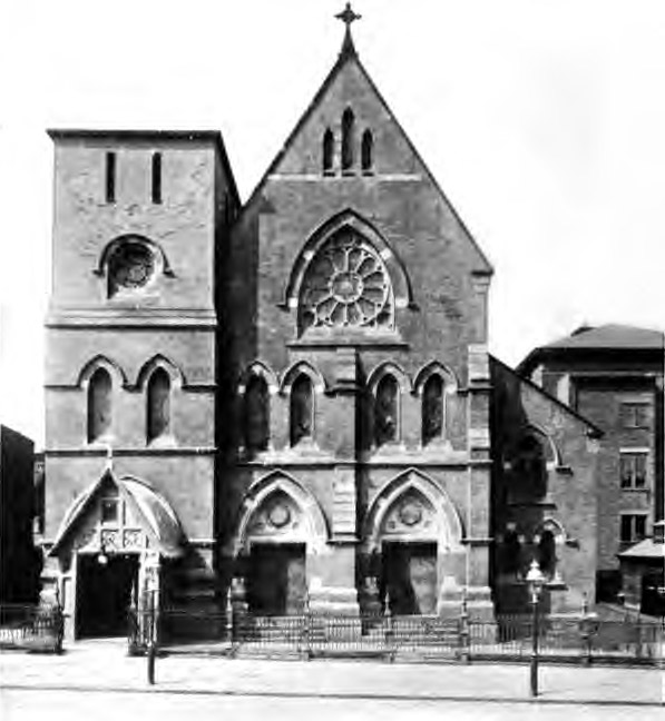 1914 photo of the Roman Catholic Church of the Sacred Heart - Brooklyn, NY