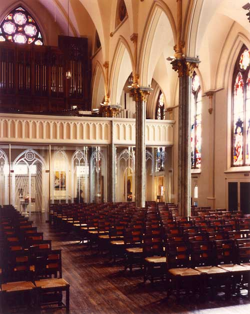 M.P. Möller Organ, Op. 9878 (1964) in The Oratory Church of St. Boniface - Brooklyn, N.Y. (photo: Galaxy Glass & Stone)