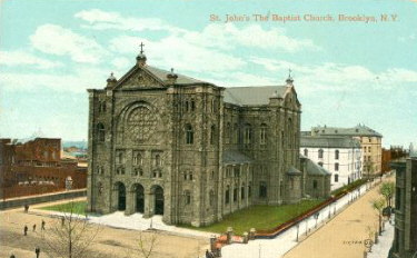 Vintage postcard of the Church of St. John the Baptist - Brooklyn, NY
