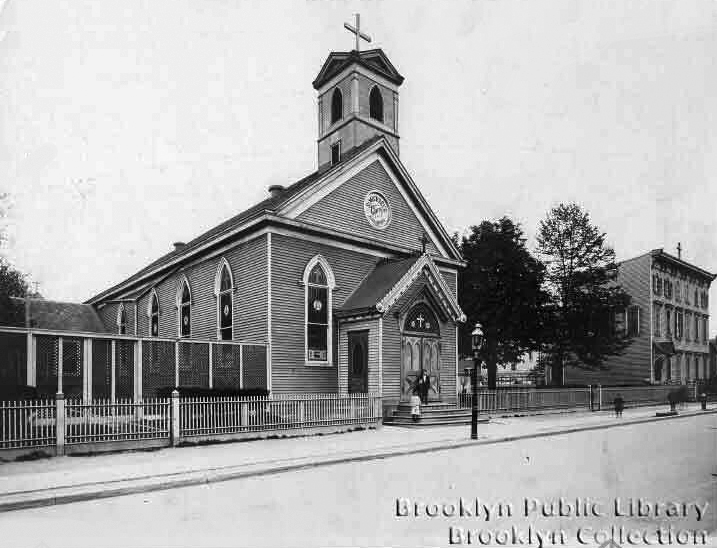 St. Michael's (German) Catholic Church - Brooklyn, N.Y. (Brooklyn Daily Eagle (1909), Brooklyn Public Library, Brooklyn Collection)