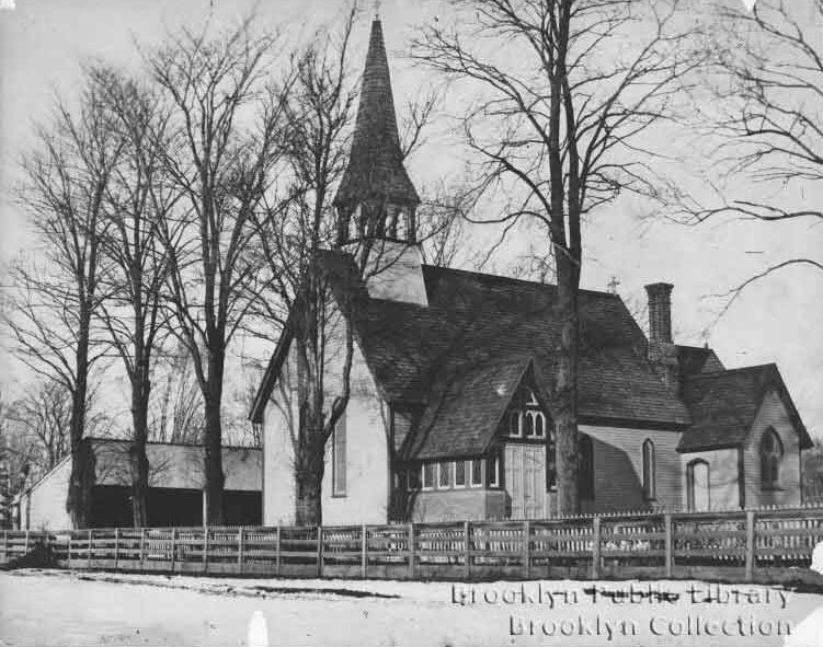 Original St. Paul's Episcopal Church-in-the-Village-of-Flatbush - Brooklyn, N.Y. (Brooklyn Public Library, Brooklyn Collection)