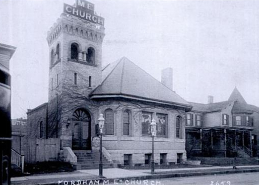 1892 building of Fordham Methodist Episcopal Church - Bronx, NY