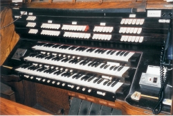 Gallery Console of Kilgen Organ, Op. 5832 (1937) at Our Lady of Mt. Carmel Church (Catholic) - Bronx, N.Y.