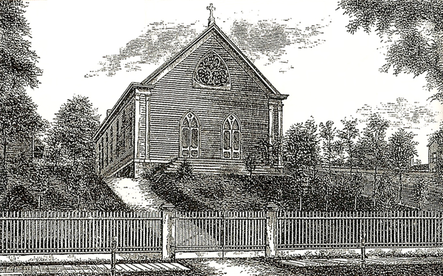 Original Building (1877) of Church of the Sacred Heart - The Bronx, N.Y.