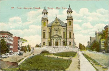 Church of St. Augustus (Catholic) - Bronx, N.Y. (postcard, ca. 1908)