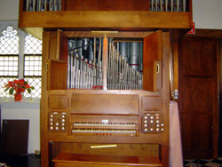Gress-Miles Organ (1960) at St. Stephen Episcopal Church - The Bronx, N.Y. (photo: Tom Fierro)