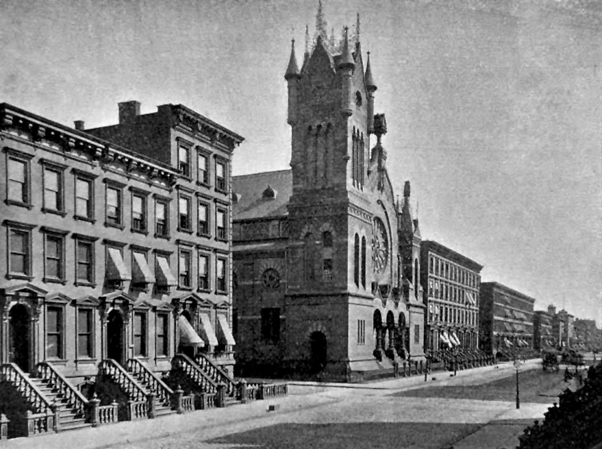 Temple Anshe Chesed on Lexington Avenue @ 63rd Street - New York City (Moses King, 1893)