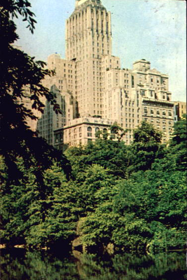 Undated postcard of the Barbizon-Plaza Hotel - New York City