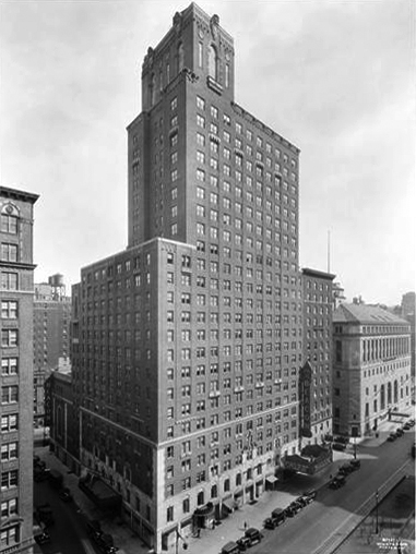 Beacon Hotel - New York City (photo: Wurts Bros., N.Y., 1930)