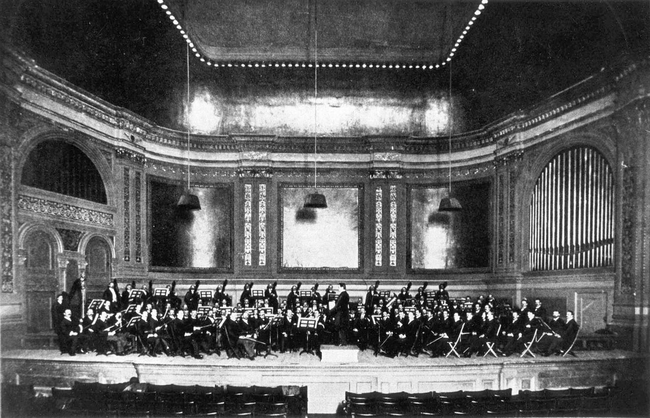 New-York Philharmonic Society showing Frank Roosevelt organ, Op. 486 (1891) in Carnegie Hall - New York City
