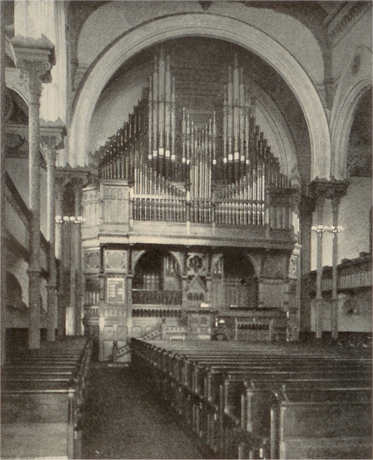1882 Roosevelt Organ at Original Church of the Covenant (Presbyterian) on Fourth Avenue at 35th Street - New York City (photo: Brick Presbyterian Church)