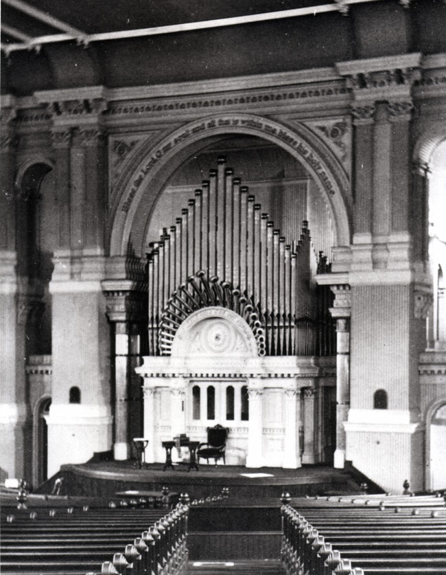 E. & G.G. Hook & Hastings Organ, Op. 668 (1872) in Church of the Disciples - New York City (courtesy Jim Lewis)