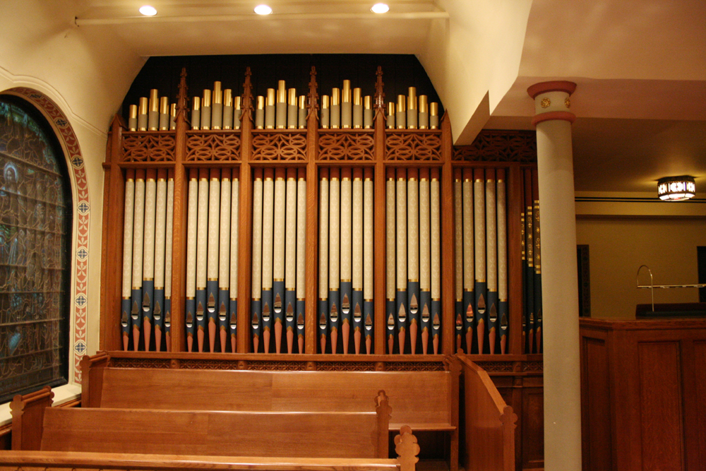 Schoenstein & Co. Organ, Op. 153 (2008) at Christ and St. Stephen Episcopal Church - New York City (credit: Steven E. Lawson)