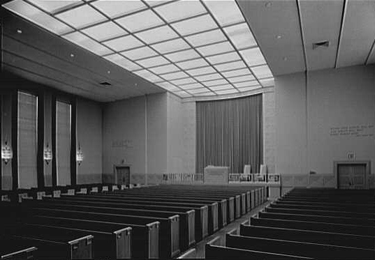 Original 1952 Interior at the Eighth Church of Christ, Scientist - New York City (Gottscho-Schleisner Collection, Library of Congress)