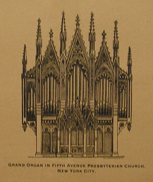 Case of Jardine & Son Organ (1875) formerly in Fifth Avenue Presbyterian Church - New York City (from Jardine & Son catalog)