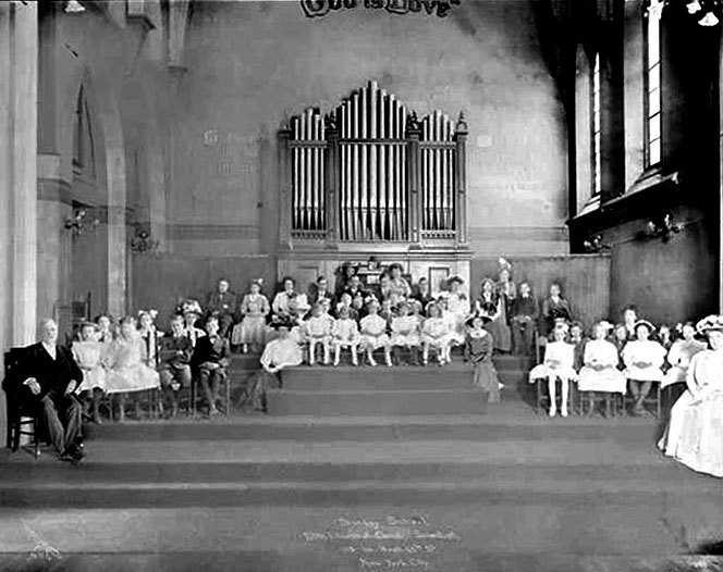 Sunday School of Fifth Church of Christ, Scientist - New York City (photo: Byron Company, 1909)
