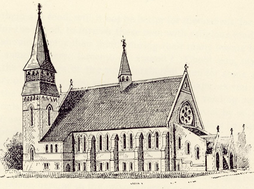 Early Drawing of Episcopal Chapel of the Good Shepherd - Blackwell's Island, New York City