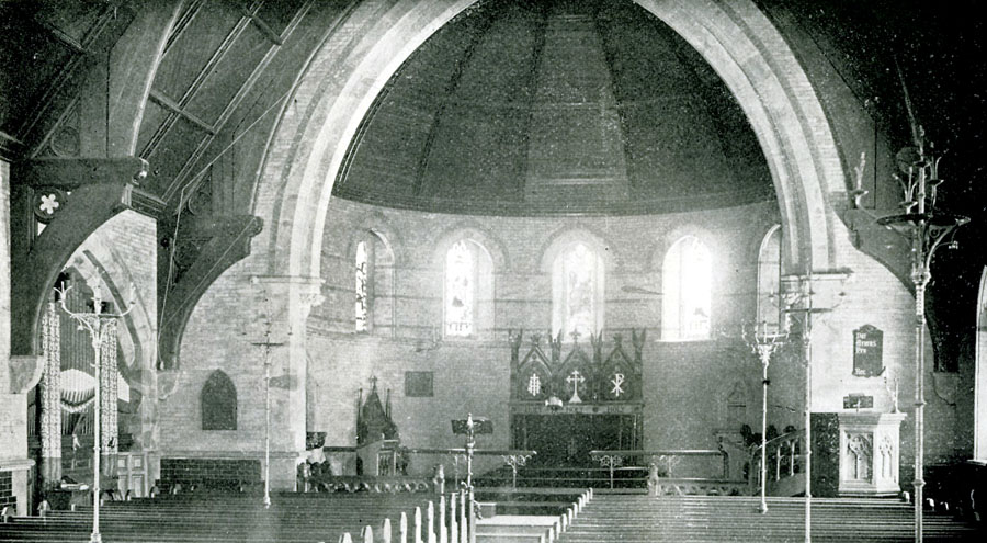 Interior of Episcopal Chapel of the Good Shepherd - Blackwell's Island, New York City