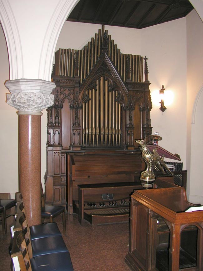 Facade of Hilborne L. Roosevelt Organ, Op. 28 (1876) in the Chantry of Grace Episcopal Church - New York City (John Rust)