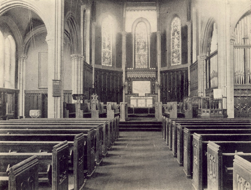 1898 photo showing organ  in Grace Chapel - New York City (Episcopal Diocese of New York Archives)