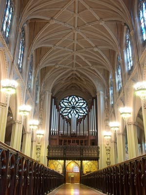 Gallery Case of Schlicker Organ (1961) in Grace Episcopal Church - New York City (Grace Church)