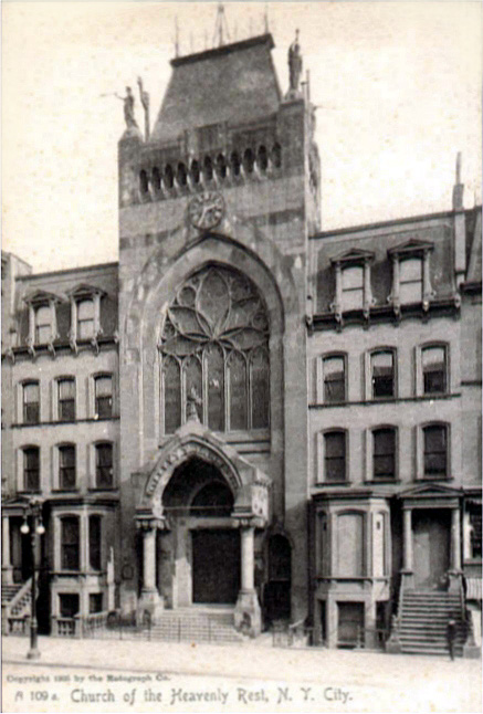 Original Church of the Heavenly Rest - New York City (ca.1905 postcard)