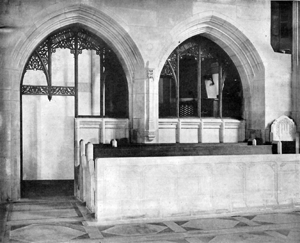 Chancel view of Console of Austin Organ, Op. 1586 (1928) in Church of the Heavenly Rest - New York City