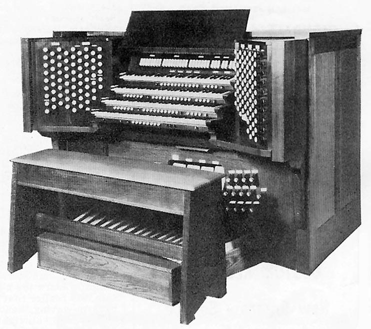 Console of Austin Organ, Op. 1586-B (1961) in Church of the Heavenly Rest - New York City
