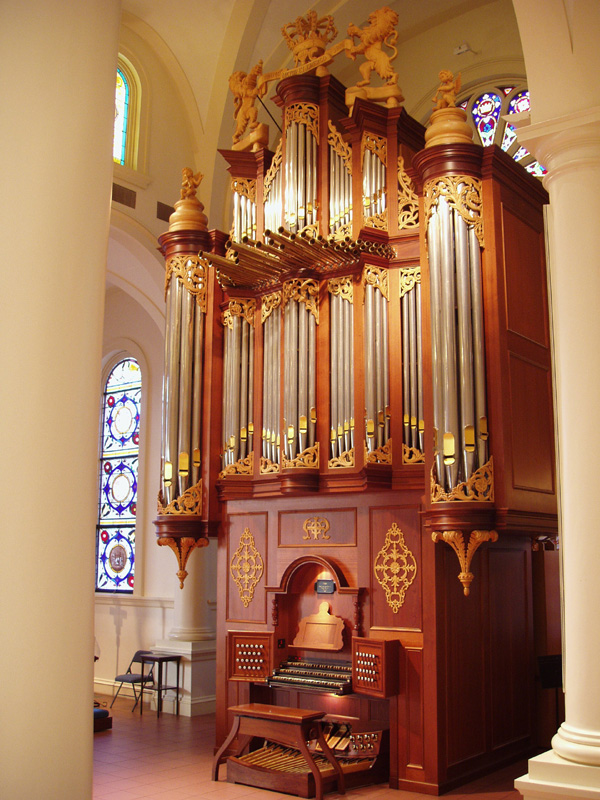J.J. van den Heuvel organ (1994) at Church of the Holy Apostles - New York City (photo: Steven E. Lawson)