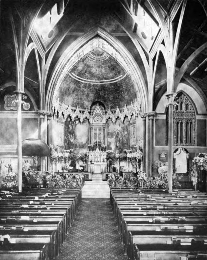 1912 Interior of Episcopal Church of the Incarnation - New York City
