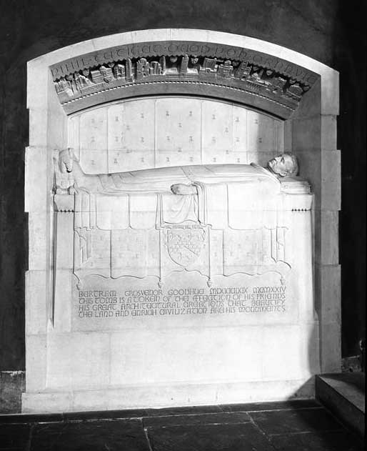 Bertram G. Goodhue Tomb - Church of the Intercession - New York City (S.H. Gottscho, 1929)