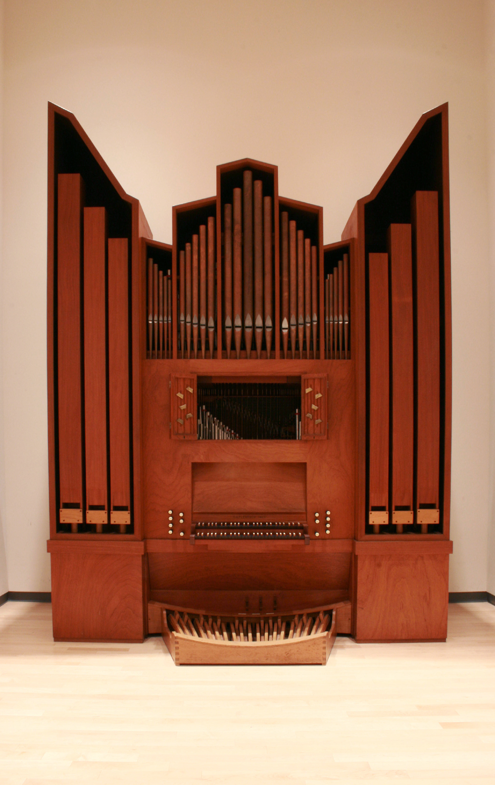Flentrop organ (1969) in Organ Studio at The Juilliard School - New York City  (2010 photo: Steven E. Lawson)