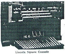 Console of M.P. Möller organ, Op. 2494 (1918) in Loew's Lincoln Square  Theatre - New York City