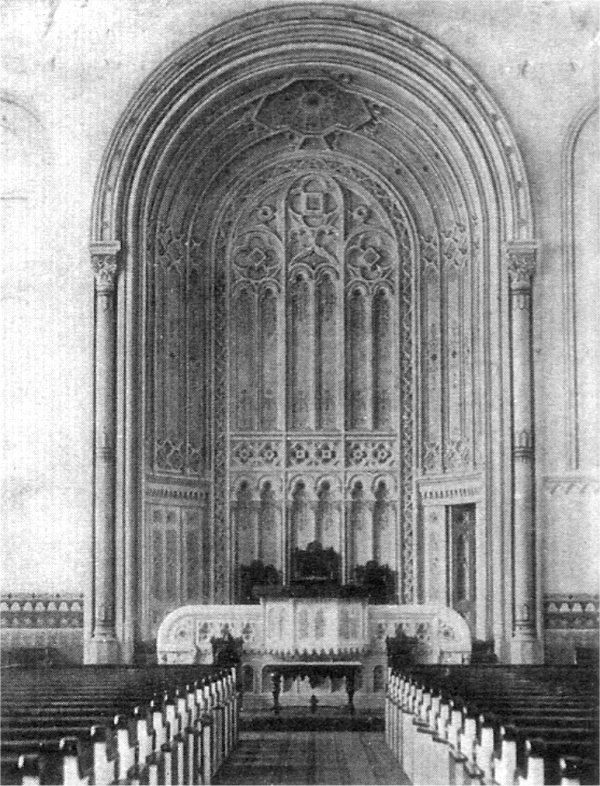 Interior of Marble Collegiate Church, ca. 1856 - New York City (photo: Marble Collegiate Church)