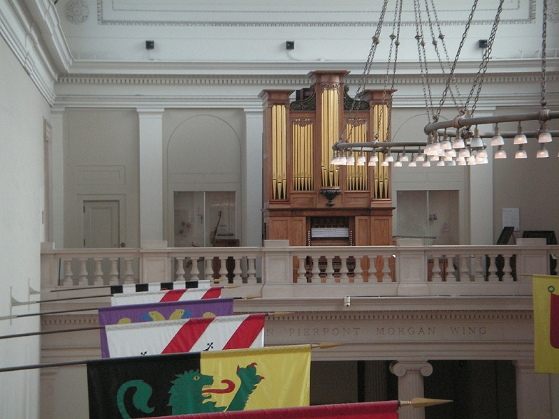 Thomas Appleton Organ (1830) at the Metropolitan Museum of Art - New York City (photo: Evan J. Griffith)